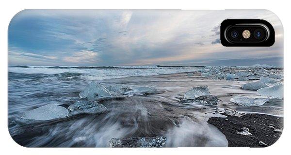 Washed Up Ice Sunset IPhone Case