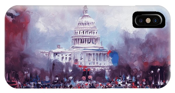 Capitol iPhone Case - Washington 478 II by Mawra Tahreem
