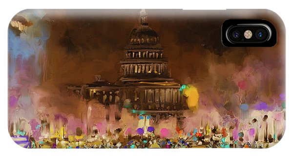 Capitol iPhone Case - Washington 478 IIi by Mawra Tahreem