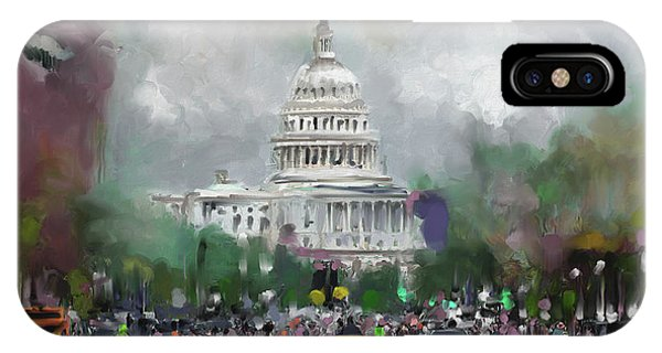 Capitol iPhone Case - Washington 478 Iv by Mawra Tahreem