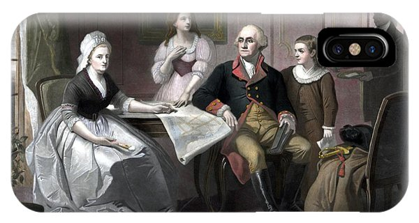 George iPhone Case - Washington And His Family by War Is Hell Store