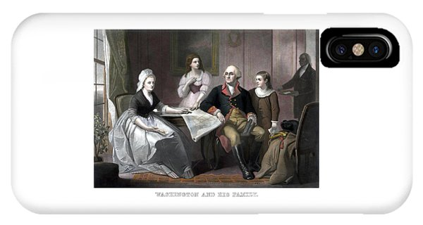 George Washington iPhone Case - Washington And His Family by War Is Hell Store