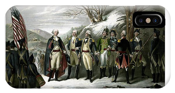 Washington iPhone Case - Washington And His Generals  by War Is Hell Store