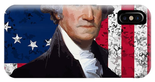 Washington iPhone Case - Washington And The American Flag by War Is Hell Store
