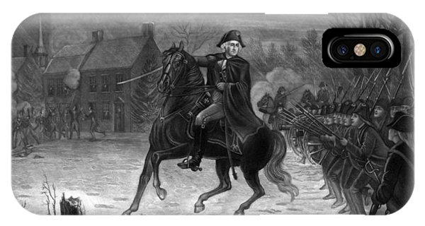 George Washington iPhone Case - Washington At The Battle Of Trenton by War Is Hell Store