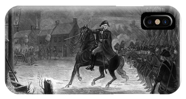 Washington iPhone Case - Washington At The Battle Of Trenton by War Is Hell Store