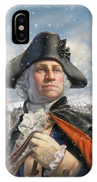 Washington iPhone Case - Washington At Valley Forge by Mark Fredrickson