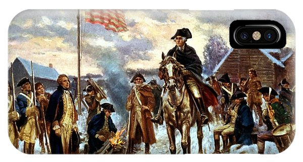 George Washington iPhone Case - Washington At Valley Forge by War Is Hell Store