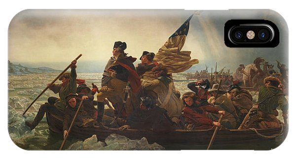 George Washington iPhone Case - Washington Crossing The Delaware by War Is Hell Store