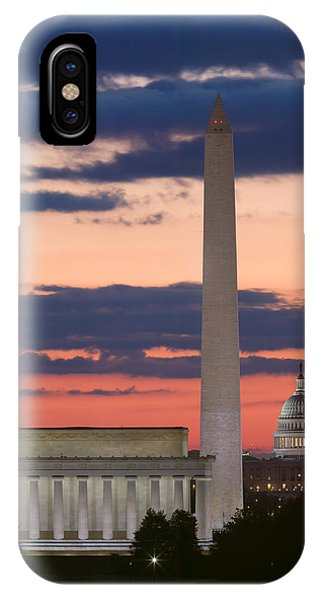 Washington Dc Landmarks At Sunrise II IPhone Case