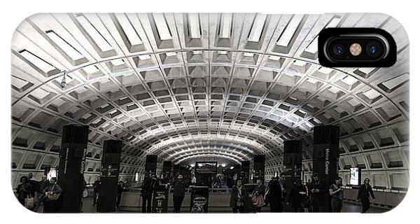 Washington Dc Metro Metro Center Stop IPhone Case