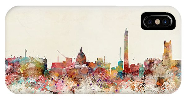 Washington iPhone Case - Washington Dc Skyline by Bri Buckley