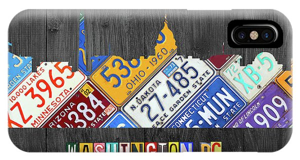 Washington Dc Skyline Recycled Vintage License Plate Art IPhone Case