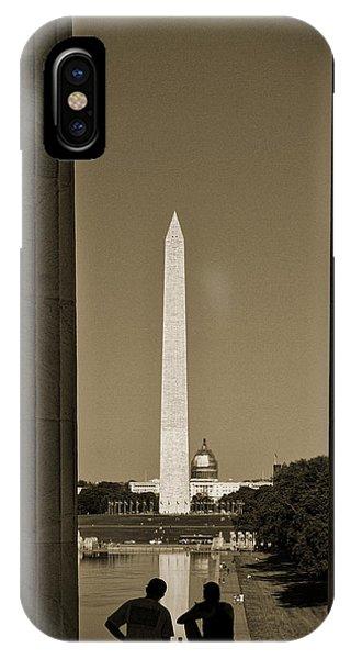 Washington Monument And Capitol #4 IPhone Case