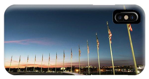 Washington Monument Flags IPhone Case