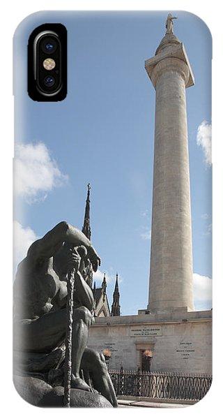 Washington Monument In Baltimore IPhone Case