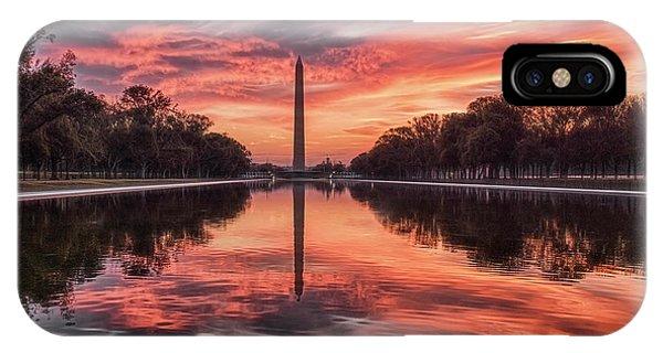 Washington Monument Sunrise IPhone Case