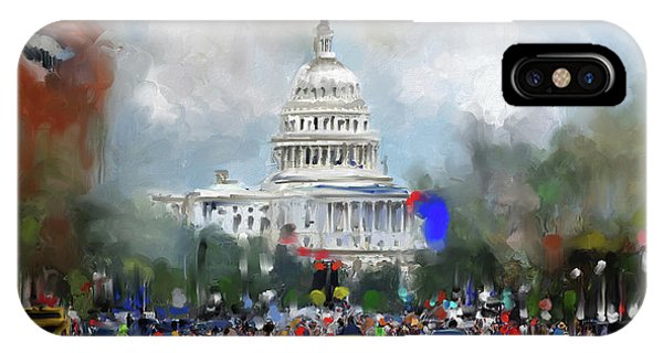 Capitol iPhone Case - Washington Painting 478 I by Mawra Tahreem