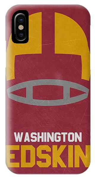 Ball iPhone Case - Washington Redskins Vintage Art by Joe Hamilton