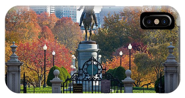 Washington Statue In Autumn IPhone Case