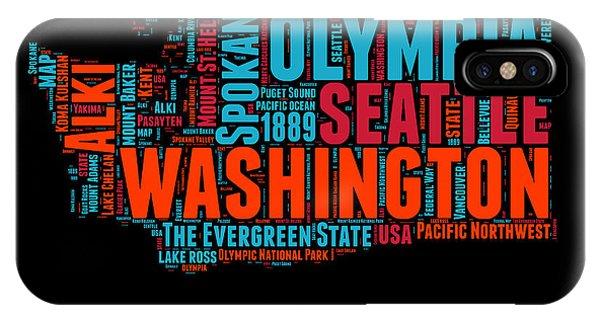 Washington Word Cloud Map 1 IPhone Case