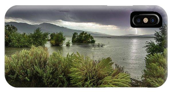 Washoe Lake Lightning IPhone Case