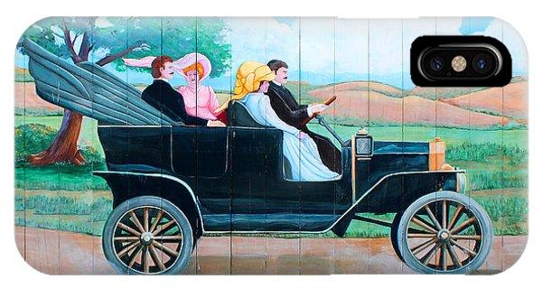 Watch The Fords Go By Model T Vintage Sign Greenfield Village Dearborn Michigan IPhone Case