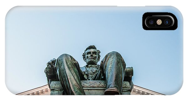 Monument iPhone Case - Watchful Abe by Todd Klassy