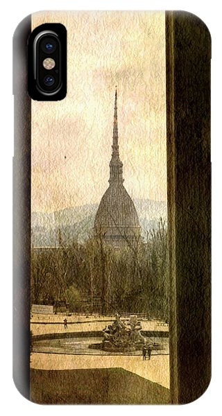 Watching Antonelliana Tower From The Window IPhone Case