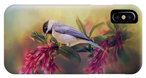 Watching Flowers Bloom Bird Art IPhone Case