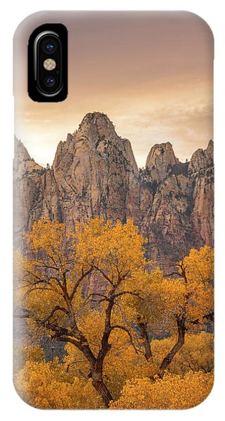 IPhone Case featuring the photograph Watching Over Zion  by Dustin LeFevre