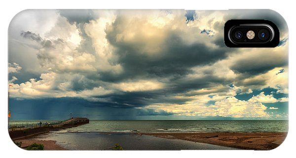 Watching The Storm On Lake Erie IPhone Case