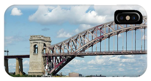Hell Gate Bridge And Barge IPhone Case