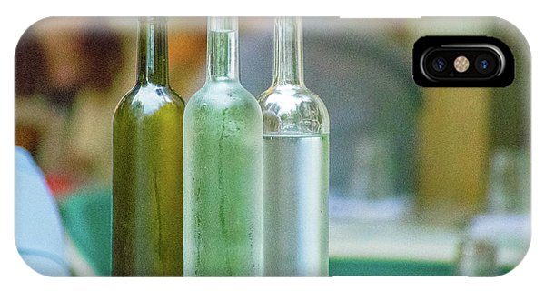 Water Bottles At New York Brasserie No 2 IPhone Case