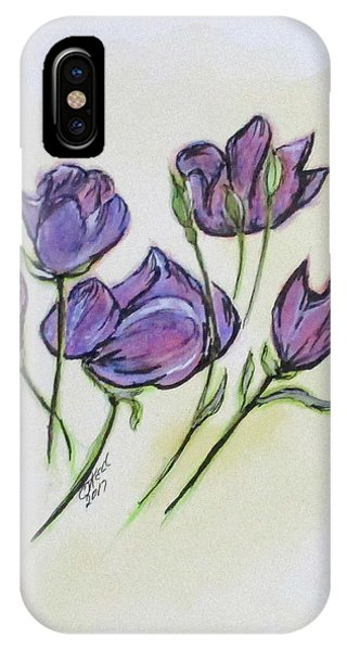 IPhone Case featuring the painting Water Color Pencil Exercise by Clyde J Kell
