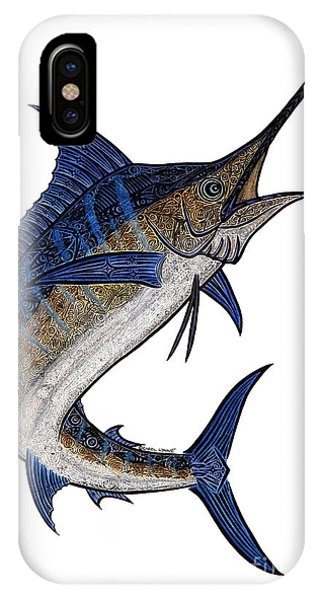 Water Color Tribal Marlin IIi IPhone Case
