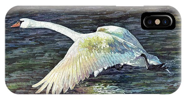 Swan iPhone Case - Water Dancer by Hailey E Herrera
