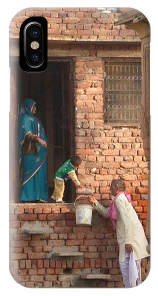 Water Delivery In Vrindavan IPhone Case