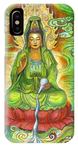 Water Dragon Kuan Yin IPhone Case