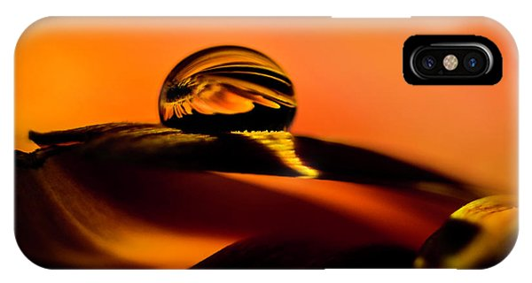 Water Drop On Orange IPhone Case
