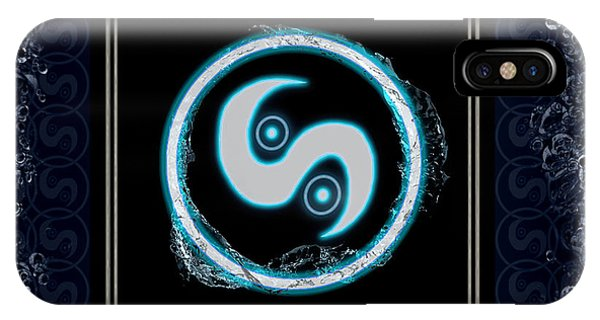 IPhone Case featuring the digital art Water Emblem Sigil by Shawn Dall