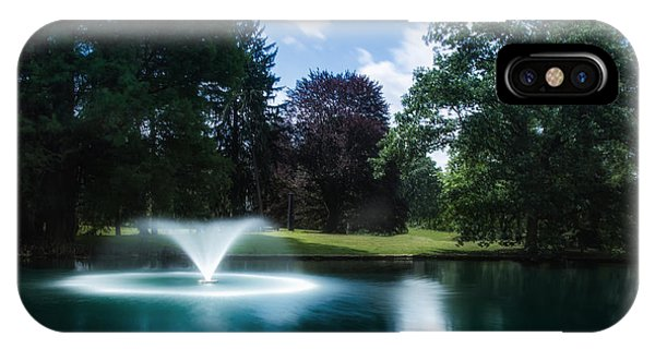 Cemetery iPhone Case - Water Fountain At Spring Grove by Tom Mc Nemar