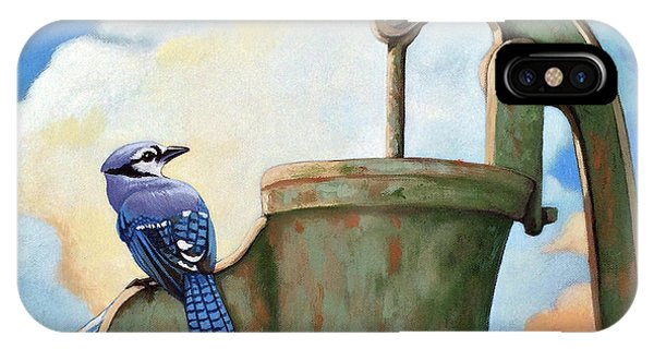 Water Is Life #3 -blue Jays On Water Pump Painting IPhone Case