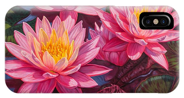 Waterlily iPhone Case - Water Lilies 3 - Sunfire by Fiona Craig