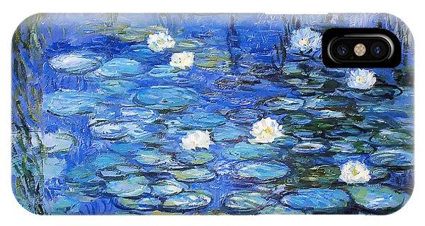 water lilies a la Monet IPhone Case