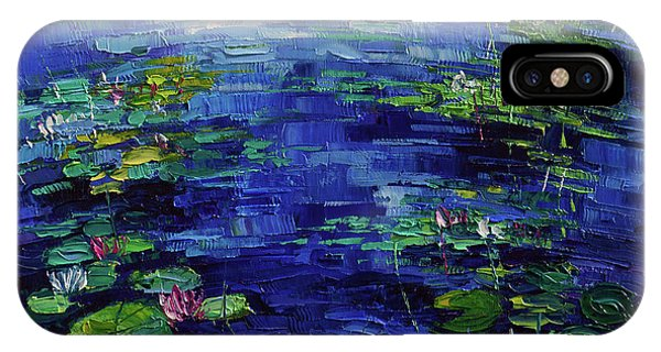 Aquatic Plants iPhone Case - Water Lilies Magic by Mona Edulesco