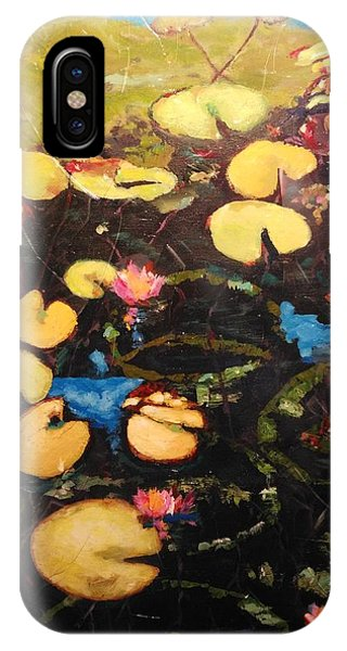 IPhone Case featuring the painting Water Lilies by Ray Khalife