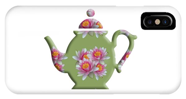 Water Lily Pattern Teapot IPhone Case