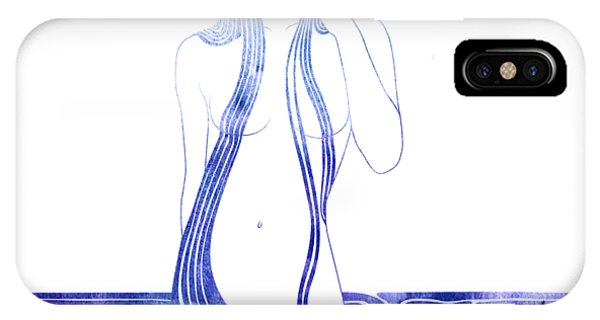 Watercolor iPhone Case - Water Nymph C by Stevyn Llewellyn