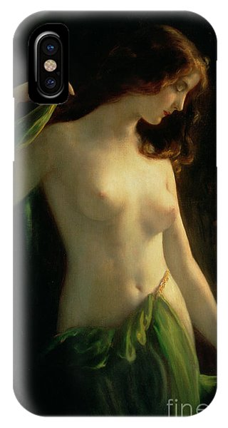 Nudes iPhone X Case - Water Nymph by Otto Theodor Gustav Lingner